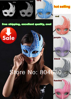 on sale crack fire party mask venetian masquerade prop lady fancy dress prom halloween costume 50pcs/lot EMS free shipping TAOS