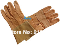 Free Shipping !! Deluxe Grain Pigskin Leather Welding Work Glove TIG MIG Leather Driver Work Glove