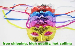 new fashion colorful plated handmake party mask venetian masquerade ball decoration wedding supply 200pcs/lot EMS free shipping(China (Mainland))