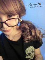 2014 New fashion Women's Metallic Mirrored Metal Circle Hair Tie Hair Cone Band Ponytail Holder (M019)