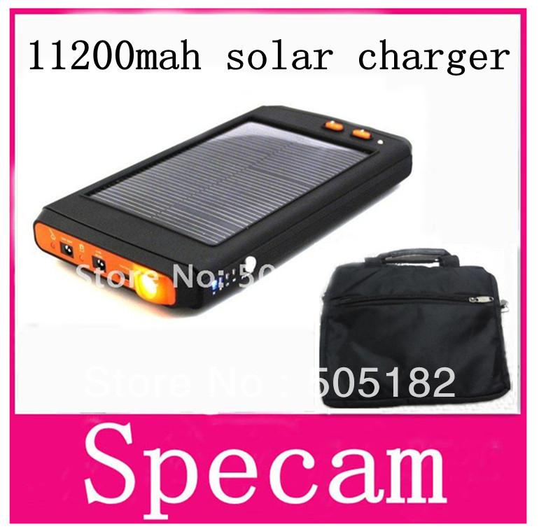 10PCS/LOT 11200mAh Portable Solar Power Charger for moble phone laptop notebook mp3 mp4 power bank for samsung freeDHL shipping(China (Mainland))
