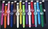 New arrival Wrist silicone Watch fashion geneva wrist watch 15 colors free shipping DHL  500pcs/lot