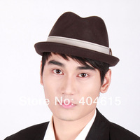 wholesale  women and men winter party formal popular 100% wool felt fedora hats
