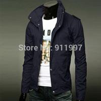 Tops 2014 new hot mens jackets cotton outwear men's coats casual fit style designer fashion jacket 8 colors M~XXXL