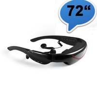New 4GB (16:9) 72inch portable video glasses with AV-in input for TV, PSP, FPV, DVD, DHL free shipping