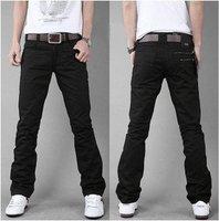 2014 New autumn winter fashionable men's cotton trousers  Double Zip slim straight leisure plus-size pants  free shipping