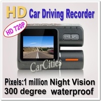 vehicle DVR Camera 1 Million Pixel HD720P,1280*720,Camera Rotation:300 Degree,120 Degree Angle,car/bus/taxi DVR G-sensor
