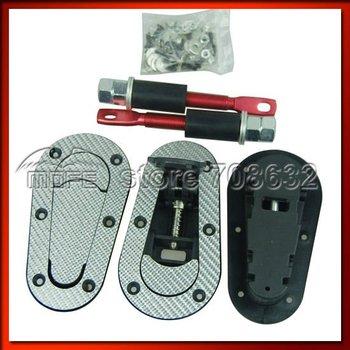 Silver Carbon Fiber D1 Generation Plus Flush Kit Bonnet Hood Pin Kit Without Lock Key
