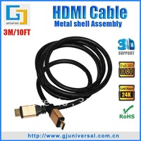 3M 10FT 1.4 Version HDMI Cable,HDMI Cable 1.4 with Ferrite Core and Nylon Net,3D Ethernet 1080P 4K*2K HDMI Cable