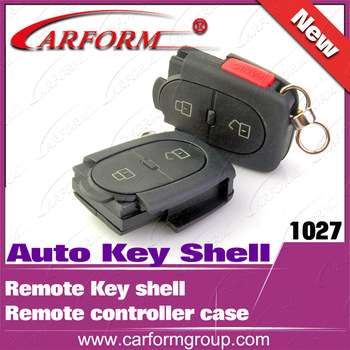 Car key shell Remote controller case Auto Key Shell for Audi remote shell (2+1)  3 buttons Wholesale and retail Free shipping