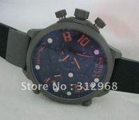 2012 Italy marine watch left hand watch  multi time zones watch three 3  movement titanium watch
