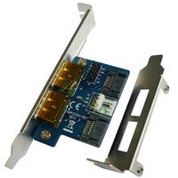 Dual Power eSATA(esata+usb) 12V+5V to Dual SATA 22pin,eSATAp to SATA 7+15pin ,extender card