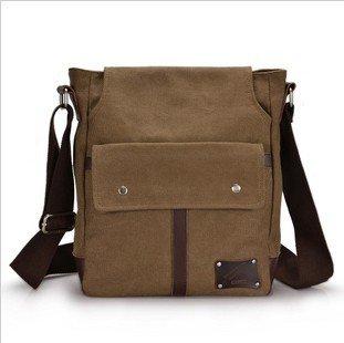 Free shipping fashion men's canvas shouder bag/canvas messenger bags(China (Mainland))
