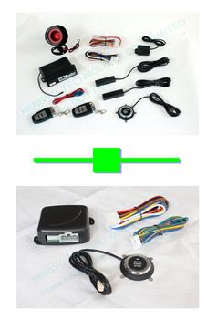1 pcs push button engine start stop/PKE car alarm FS-58 keyless go + 1 pcs engine push start button FS-50 keyless go