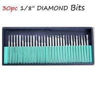 "10sets  DIAMOND BURRS bur bit set DREMEL 1/8"" Dremel Rotary Tool Drill Bit NEW 10packages  free shipping"