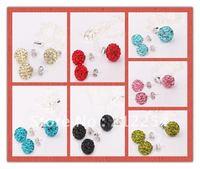 Jewelry Set Shamballa Earring and Shamballa Necklace Crystal Disco Ball Hot Sale SH052 100sets/lot Free shipping
