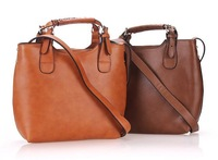 New Arrival Fashion Women's Vintage Celebrity Tote Genuine Leather Handbag Shoulder Messenger Bag,  Adjustable Handle