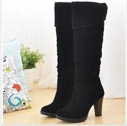 CooLcept Модный high heel boots Женщины lady over knee platform dropsТаз winter ...