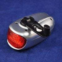 1pc/lot 2LEDs Solar Energy Power Hand Crank Bicycle Rear Light ,2 Modes Bike Led Tail Light