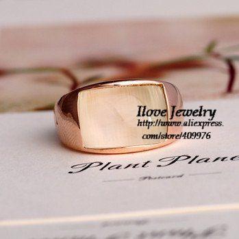 Свадьба кольца для женщины ювелирные изделия кольцо rigant 18 k покрытие из розового золота дизайн cat - глаз кольца