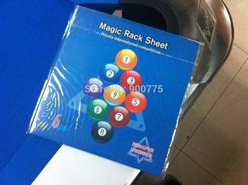 6 pcs pool billiards Ball Magic Rack sheet/Free shipping/0.1mm Thickness/6pcs/pack For 9ball/10ball