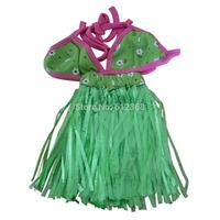 Hawaiian Pet Dog Costume Bikini Hula Skirt Holiday Dress Swimming Suit Clothes