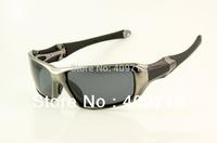 New High Quality Designer Sports Sunglass Men's Brand Name C-Six OO4047-01 Grey Sunglass Grey Polarized Lens 1600