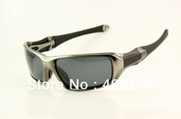 New High Quality Designer Sports Sunglass Men's Brand Name C-Six OO4047-01 Grey Sunglass Grey Polarized Lens 1600