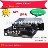 """1 Channel H.264 Full D1 2.5"""" SATA HDD Mobile DVR/ Bus DVR"""