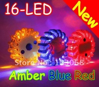 2012 New Universal 16-LED LED Warning Light Strobe Flash With Magnetic 9 - Flashing Modes