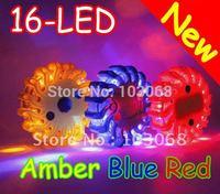 2012 New Universal 16-LED LED Warning Light Strobe Flash With Magnetic 9 - Flashing Modes