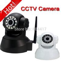 Night Vision IR Webcam Web CCTV Camera WiFi Wireless IP Camera Pan Tilt Security, White/Black Available, Free & Drop shipping