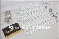 Free shipping Pillar Aero 1432 Stainless Steel White/black bicycle Spokes for Carbon Fiber Wheel set 12 pics 6.5g each