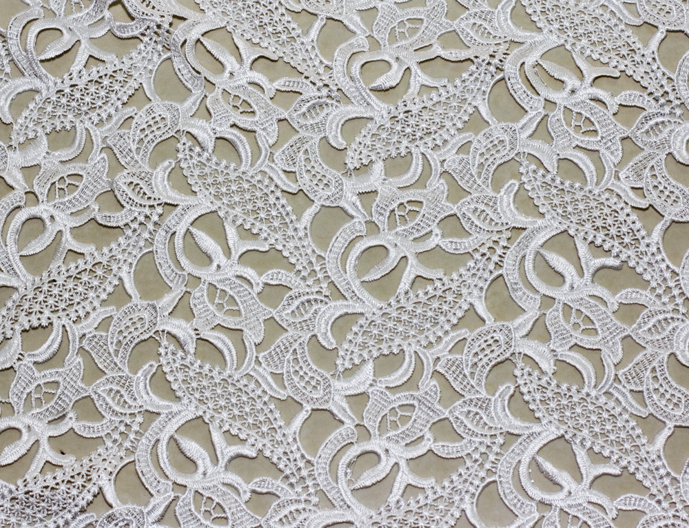 120CM WIDE 100 Polyester Emboidery Fabric Wedding Dress Fabric White Lace Fabric High Qulity