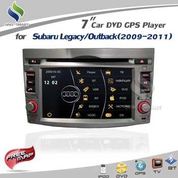 Virtual 8 DISC 3D UI 7.0 GPS/DVD/BT/iPod/TV For Subaru Legacy/Outback(2009-2011) SiRF Prima 600Mhz CPU+ 4Gmap option
