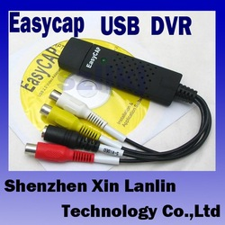 H38#Easycap USB 2.0 Video TV DVD VHS Capture Adapter USB DVR free shipping(China (Mainland))