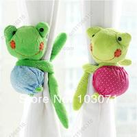 2pcs Super Cute Frog Cartoon Animal Drapes Curtain Decorative Tieback Buckle Hooks Clip Holdback Holder