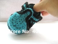 Boys crochet shoes infant sandals double sole mix design cotton yarn 0-12M 12pairs/lot custom