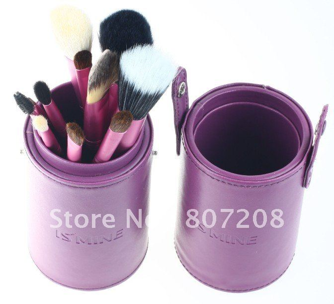 NEW Arrival ! 13pcs red/purple/Black Makeup Eyeshadow Brushes Set cosmetics brushes+ Case(China (Mainland))
