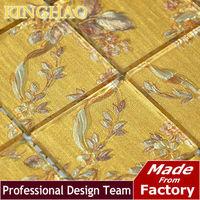 2014 Real Limited Tablet Backsplash Glass Brick Bathroom Tiles [kinghao] Supply Mosaic Glass Tile Color Wholesale Wall Kwp411