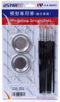 U-STAR Painting Set UA-90023, 10 in 1, Including Brushes, Palettes, Mini Palette Holder