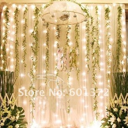 3*3M 300pcs LED curtain light Christmas/wedding/party/hotel decoration,led string tree light(China (Mainland))