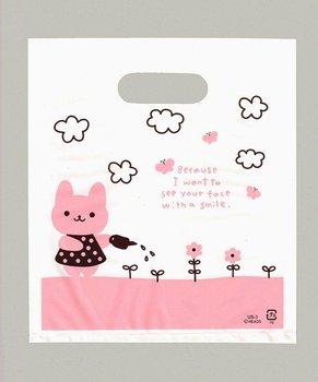 Cute rabbit plastic shopping bags 18x20cm 300pcs/lot