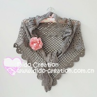 100% Cotton Handmade Crochet Fashion Flower Women's Scarf Shawl S06A007