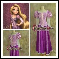 Custom made Beautiful Rapunzel Princess Cosplay Dress for Christmas