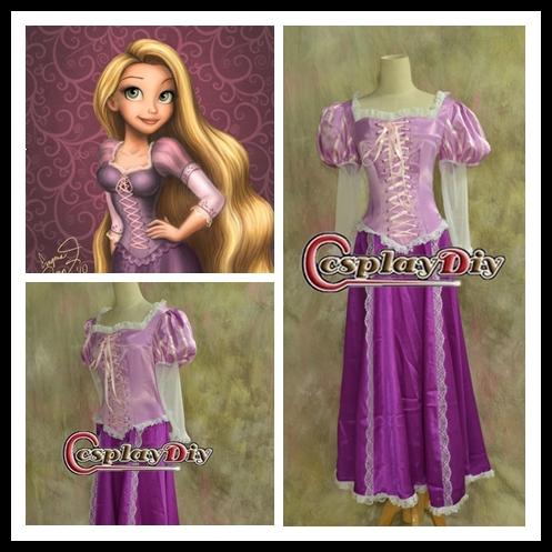 Como hacer el vestido de rapunzel - Imagui