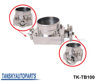 Tansky - UNIVERSAL 100mm THROTTLE BODY Silver TK-TB100