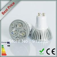 10pcs/lot 9W GU10 Dimmable 85-265V White/ Warm White 3*3W LED Spot Light Lamp Bulb led lighting free shipping