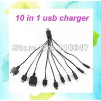 10 in 1 Universal USB Charger Cable line For Apple PSP Mobile Phone etc , 20PCS/LOT Free shipping