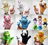 Cute Big Size Animal Glove Puppet Hand Dolls Plush Toy (Bear, Panda, Elephant, Duck, Rabbit, Hippo, Mouse, Cow, Frog, Dog)